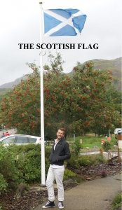 Lily poppins in Scotland - Scottish flag